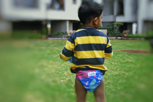 baby with kindermum diaper