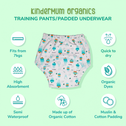 Training pants features